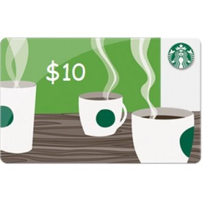 Starbucks Gift Card 10